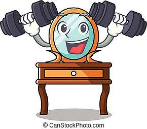 tabla, condición física, carácter, caricatura, aliño