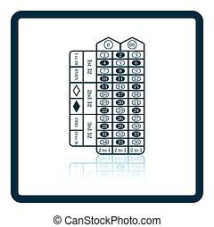 tabla de la ruleta, icono
