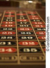 tabla de la ruleta, vegas, las