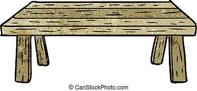 tabla de madera, caricatura