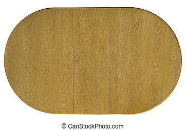 tabla de madera, cima, aislado, vista