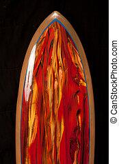 tabla de surf, rojo