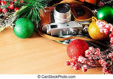tabla, decoraciones de navidad