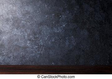 tabla, delante de, pizarra, pared