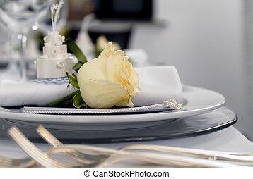 tabla, detalles, boda