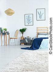 tabla, dormitorio, aliño
