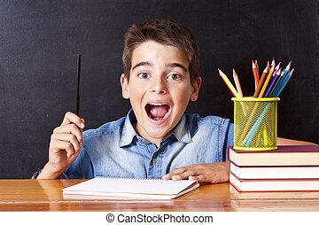 tabla, escuela, creatividad, expresión, niño