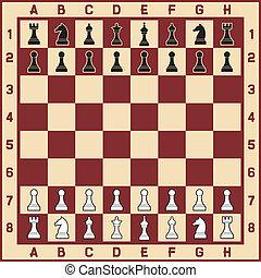 tabla, figuras, ajedrez