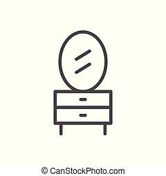 tabla, línea, aliño, icono