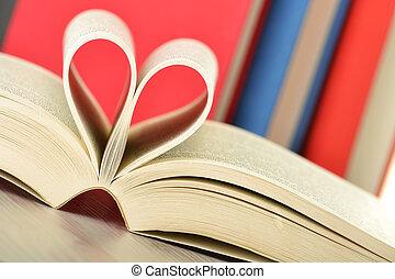 tabla, libros, composición