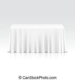 tabla, mantel, vector, vacío, rectangular