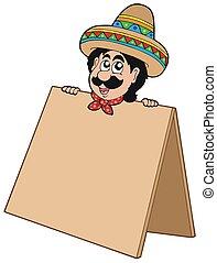 tabla, mexicano, hombre