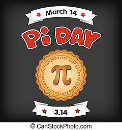 tabla, pi, tiza, 14, día, marzo