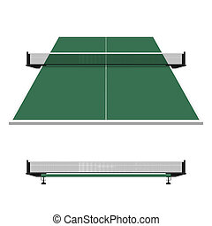 tabla, pong, ping, tenis, red