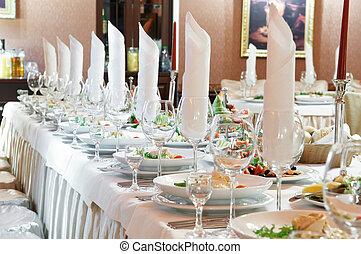 tabla, primer plano, conjunto, abastecimiento