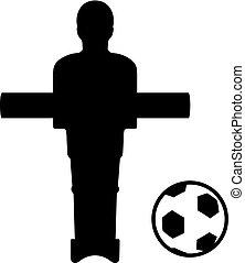 tabla, símbolo, fútbol