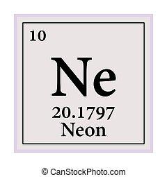 tabla, vector, eps, elementos, ilustración, 10, neón, ...