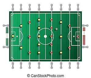 tabla, vector, tabletop, fútbol
