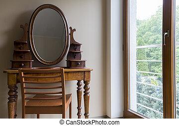 tabla, viejo, habitación, aliño