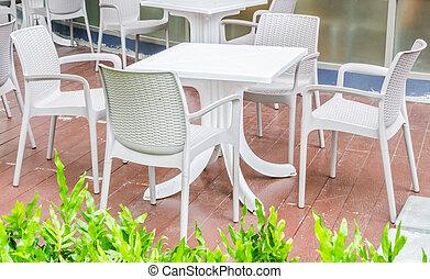tabla, y, silla
