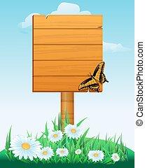 tablas de madera, señal