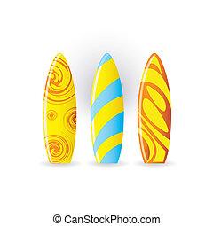 tablas de surf, icono