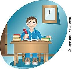 table, écolier