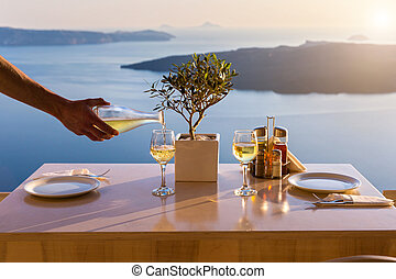 Table above sea for two