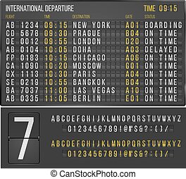Table airport - Airport or railroad realistic scoreboard...