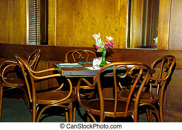 Table and Chairs in a Restaurant