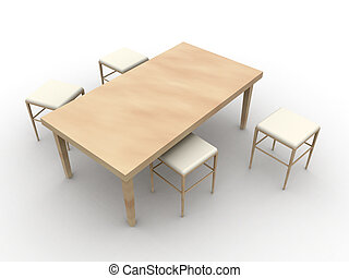 Table and Stools 1