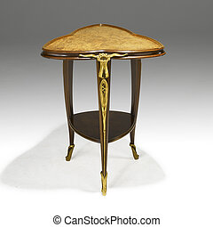table, arts, chêne, occassional, métiers
