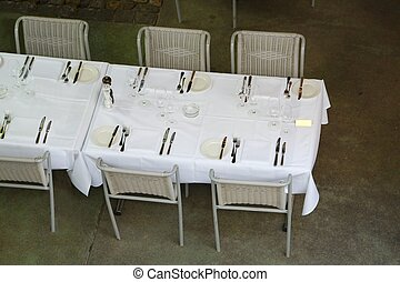 Table at a restaurant