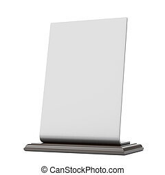 table banner isolated on a white background. 3d render