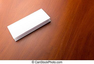 table, blanc, papier, feuille