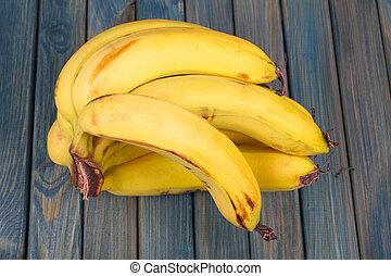 table bois, bananes