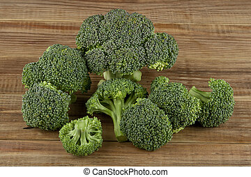table bois, brocoli