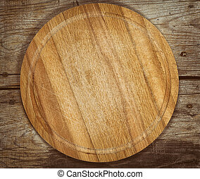 table bois, découpage, vieux, planche