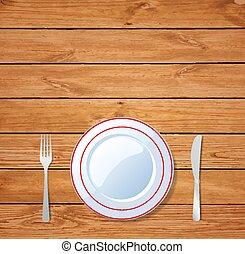 table bois, montage dîner, table.