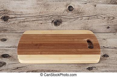 table bois, planche découper, cuisine