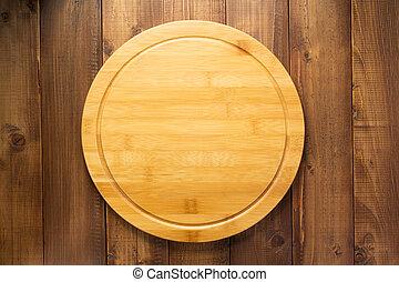 table bois, planche découper, fond