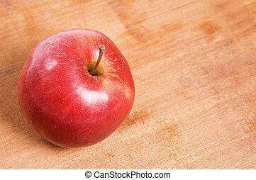 table bois, pomme, rouges