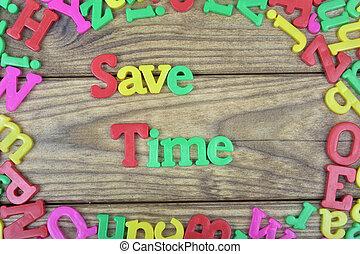 table bois, sauver, temps