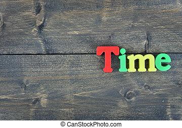 table bois, temps