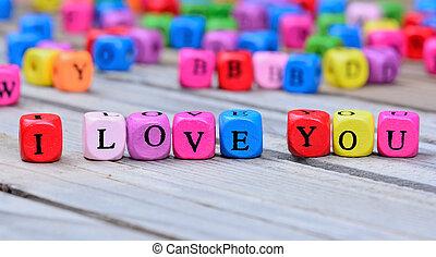 table bois, vous, amour, mots