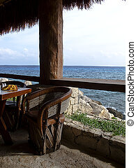 Table by the ocean