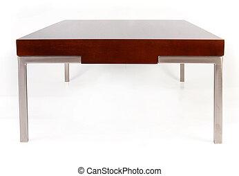 table, café, blanc, contemporain, isolé