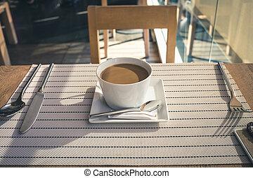 table, café