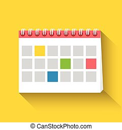 Table calendar flat icon.