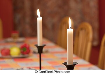 Table - Candles on a dining table